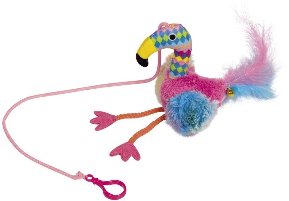 Nobby hračka pro kočky plameňák na gumičce 45x22 cm