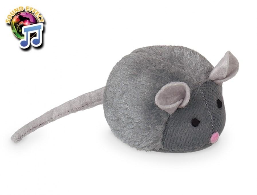 Nobby plyšová myš speciální zvuk 15 cm
