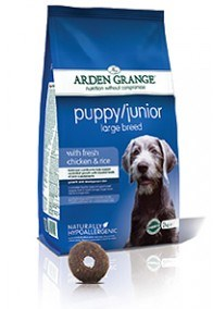 Arden Grange Puppy/Junior Large Breed:  fresh chicken & rice  2 Kg