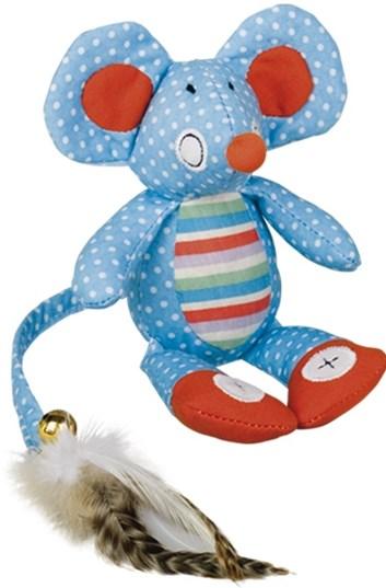 Nobby hračka pro kočky plochá myška modrá 18 cm