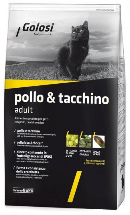 Golosi Cat Pollo e Tacchino (Kuře a krůta) 7,5 Kg