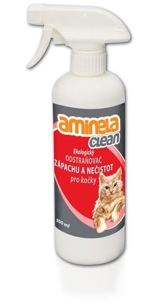 Aminela Clean Ekologický odstraňovač zápachu a nečistot pro kočky 500 ml
