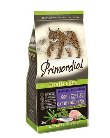 Primordial KRŮTA & SLEĎ pro kastrované kočky 400g