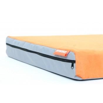 Matrace Aminela - 80x60x10 cm Half and Half (šedá/oranžová)