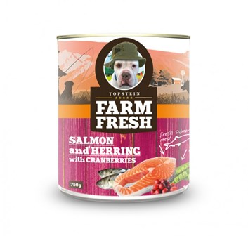 Farm Fresh -  salmon & herring with peas & cranberries 750 g