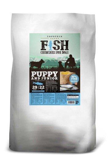 Topstein Fish Crunchies Puppy/Junior 30 Kg (15 Kg+15 Kg)
