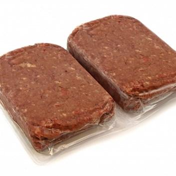 Hovězí-krůtí maso s kostí 2 x 0,5 Kg