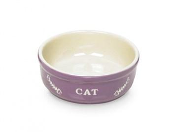 Nobby Cat keramická miska 13,5 cm fialová