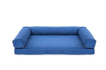 Aminela pelíšek s okrajem 120x80 cm Half and Half modrá/světle šedá
