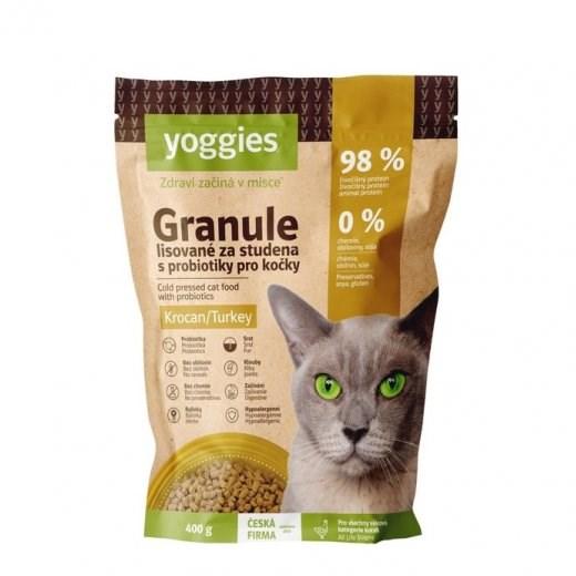 Yoggies Granule pro kočky s krocaním masem, lisované za studena 400 g
