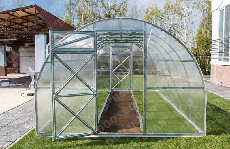 Polykarbonátový skleník TRJOŠKA 4m ( 4 x 3 m ) - Volya LLC