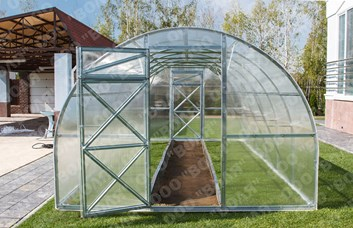 Polykarbonátový skleník TRJOSKA 4m ( 3 x 4 m ) - Volya LLC