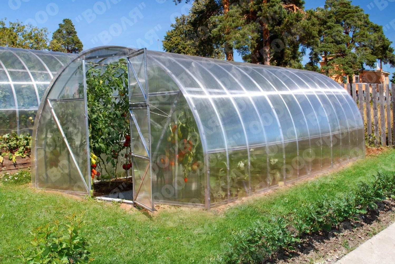 Polykarbonátový skleník 2DUM 4m (4 x 3 m ) - Volya LLC