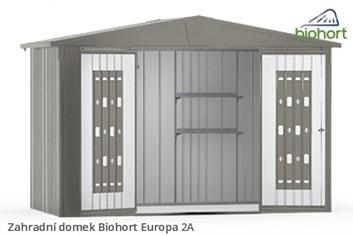 Biohort Zahradní domek EUROPA 2A, tmavě šedá metalíza