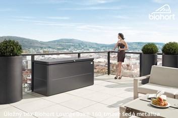 Biohort Úložný box LoungeBox® 200, šedý křemen metalíza