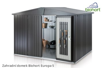 Biohort Zahradní domek EUROPA 5, tmavě šedá metalíza
