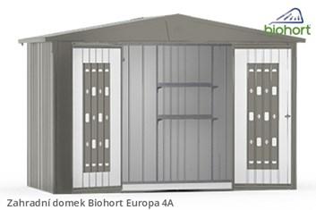 Biohort Zahradní domek EUROPA 4A, stříbrná metalíza