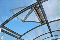 Polykarbonátový skleník 2DUM 12m ( 12 x 3 m ) - Volya LLC