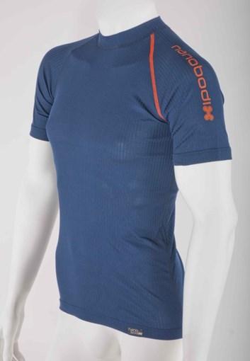 Nanobodix comfort pánské triko krátký rukáv - modré
