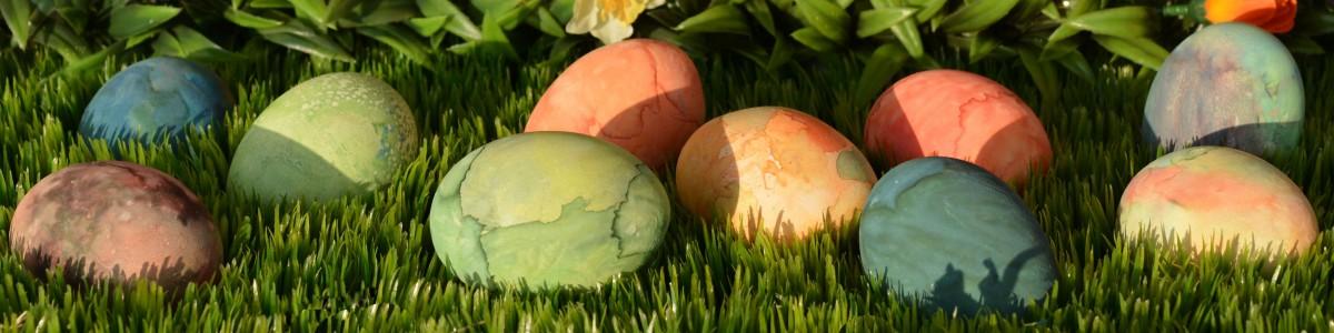 Velikonoční barvení vajíček