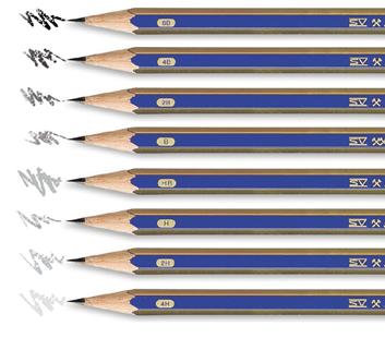 Grafitové tužky, uhly