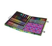 Glitter scrapbook kit, třpytkový cestovní kufřík s troly, 115 kusů, Crayola