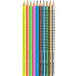 Faber-Castell, 201643, Grip 2001, sada pastelek, dárková edice raketa, 10 ks