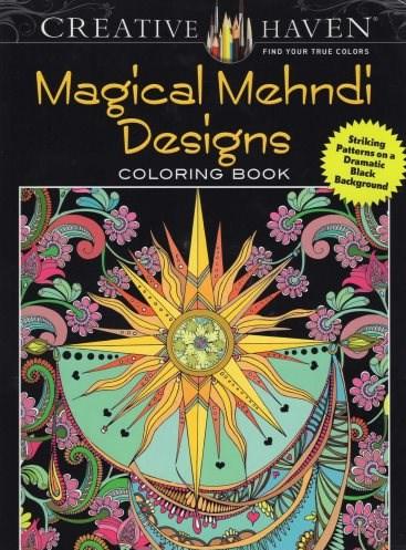 Omalovánka pro dospělé, Magical Mehndi Designs