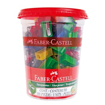 Faber-Castell, 580000, ořezávátko s jedním otvorem, různé barvy, 1 ks
