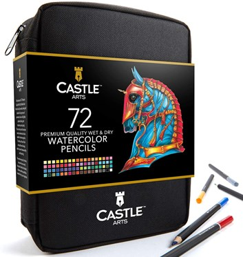 Castle art supplies, CAS-72WPZ, Watercolour Pencils Set, sada akvarelových pastelek v pouzdře, 72 ks