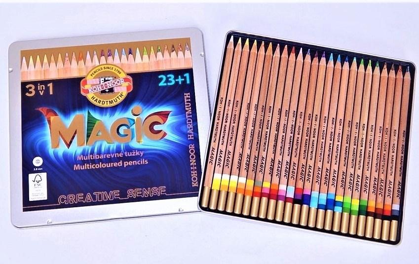 Koh-i-noor, 3444N24004PL, Magic, souprava stínovacích pastelek, 23+1