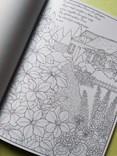 Spacer po ogrodzie, omalovánka, která vás uklidní a nechá projít okouzlujícím světem přírody.