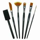 Sada štětců pro akvarelové malování a zkoušení různých technik i efektů.