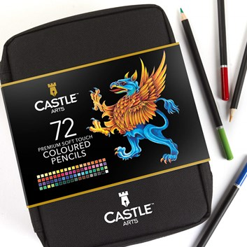 Castle art supplies, CAS-72CPZ, Premium colored pencils, sada pastelek v pouzdře, 72 ks