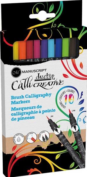 Manuscript, MM7005, Duotip, sada oboustranných kaligrafických popisovačů, 10 ks