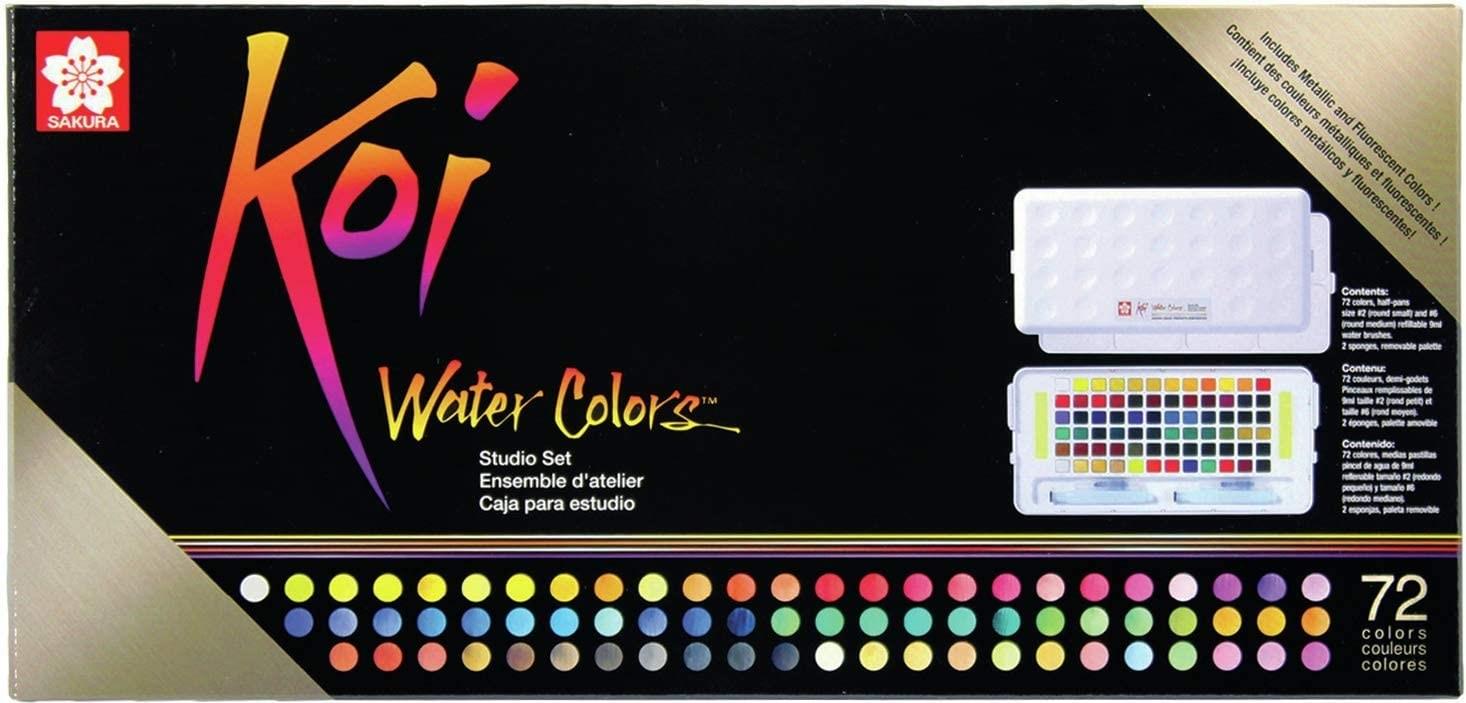 Sakura, KOI, sada akvarelových barev, 72 odstínů