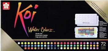 Sakura, KOI-WCB72, KOI, sada akvarelových barev, 72 odstínů