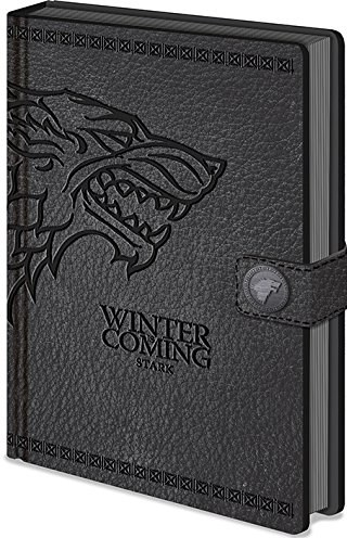Zápisník A5 premium, motiv Game of thrones - Winter is coming/Stark, 1 ks