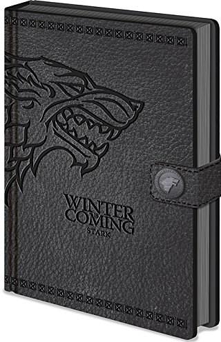 Zápisník A5 premium, motiv Game of thrones - Winter is coming/Stark, 1 ks