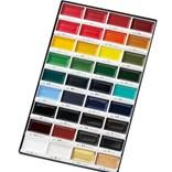 Všechny barvy duhy v prvotřídních akvarelových barvách od Gansai Tambi.