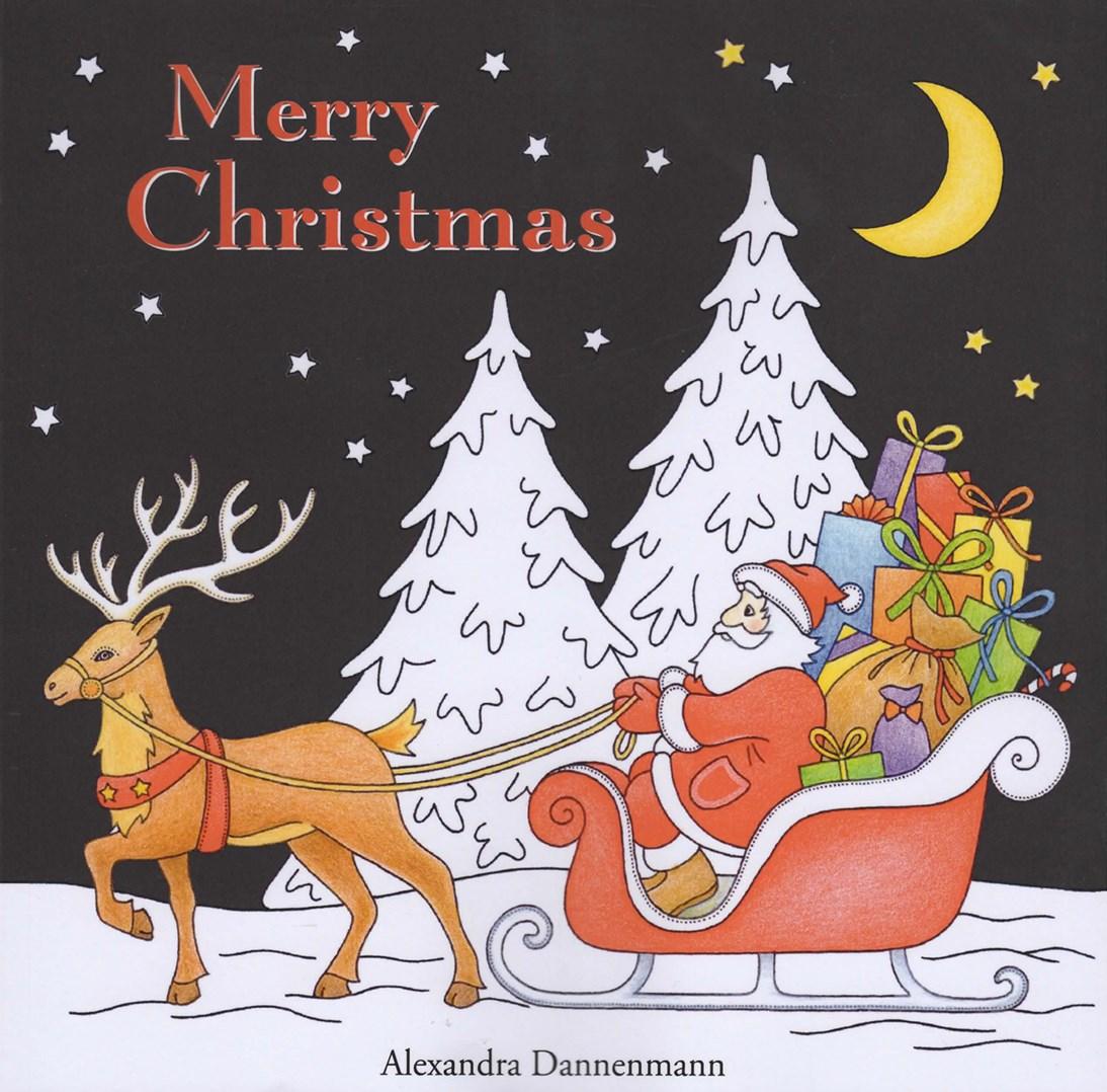 Vánoční omalovánka pro dospělé Merry Christmas