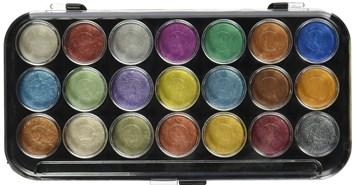 Yasu tomo, NPWC21, akvarelové metalické barvy,  21 barev