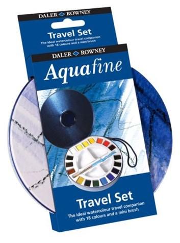 Daler-Rowney, 131900030, Aquafine watercolour, umělecké akvarelové barvy travel tin, 18 barev