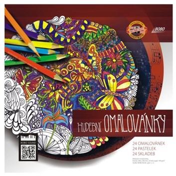 Hudební omalovánky s pastelkami Polycolor 24, 307235, Jana Vlková