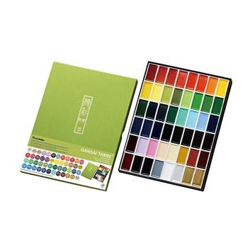 Kuretake, MC20V48, Gansai Tambi, akvarelové barvy v pánvičkách, 48 odstínů