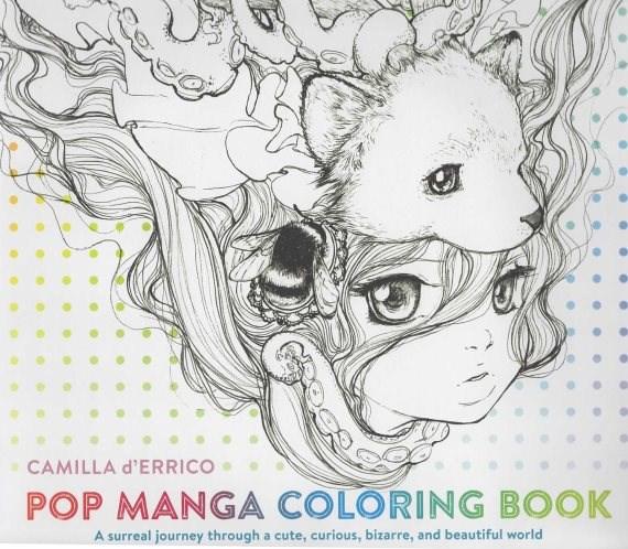 Omalovánka pro dospělé, Pop Manga Coloring Book