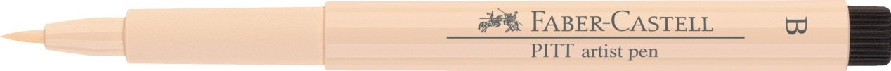 Faber-Castell, 167416, Pitt artist pen, popisovač se štětečkovým hrotem (brush), 1 ks - Medium skin 116