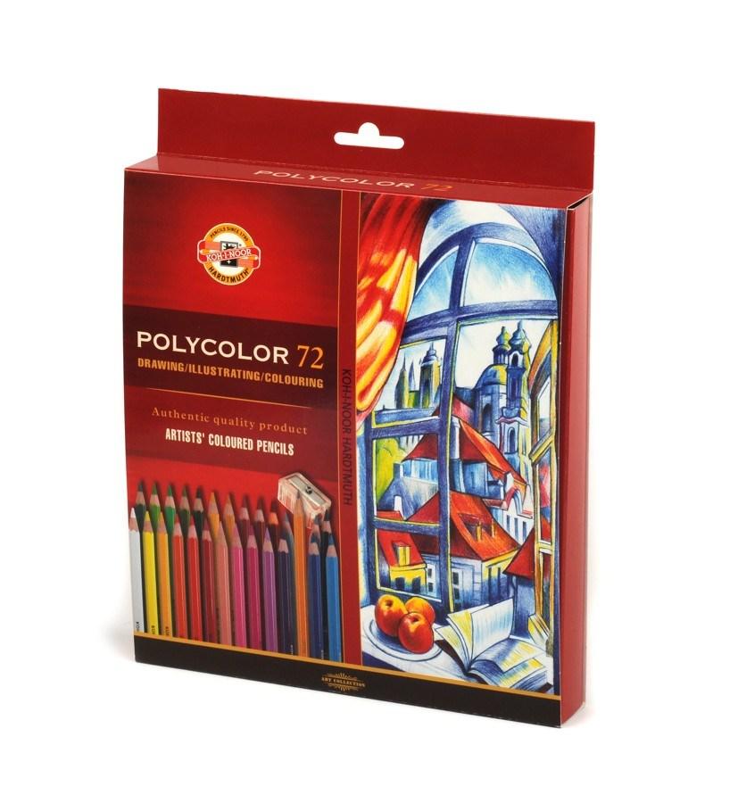 Umělecké pastelky Polycolor, 72 ks, Kohinoor