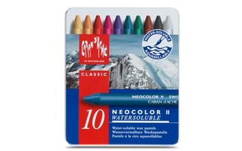 Caran d´Ache, 7500.310, Neocolor II., akvarelové, olejové pastely, 10 ks