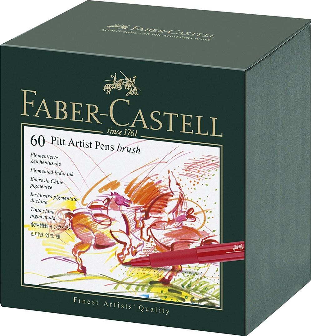 Faber-Castell, 167150, PITT artist pen, Gift box, brush popisovače, 60 ks